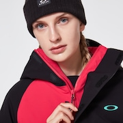 Camellia Shell Jacket - Black/Rubine