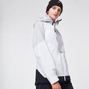Camellia Shell Jacket - White/Gray
