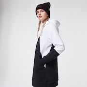 Snowdrop DWR Fleece - Black/White
