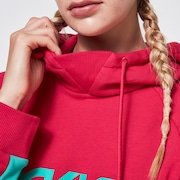 TNP Women's DWR Fleece Hoody - Rubine Red