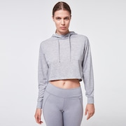 Darla Cropped Hoodie - New Granite Hthr