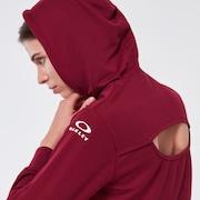 Darla Cropped Hoodie - Burgundy