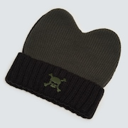 Floppy Beanie - Black/Green