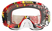 O-Frame® 2.0 MX Goggles - Mosh Pit Red Yellow
