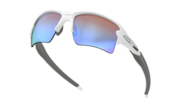 Flak™ 2.0 XL - Polished White / Prizm Deep Water Polarized