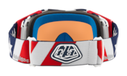 Airbrake® MX Goggles - Troy Lee Design Liberty Red White Blue / Prizm MX Black Iridium