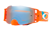 Front Line™ MX Goggles - Troy Lee Design Metric Red Orange / Prizm MX Sapphire Iridium