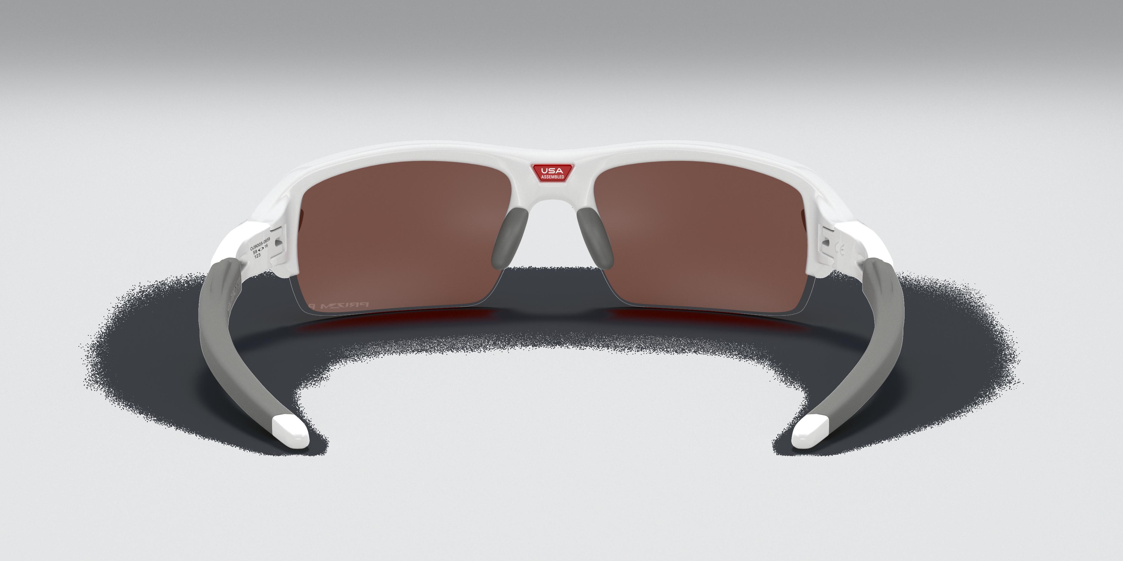 Flak® XS  (Youth Fit) Polished White Sunglasses   Oakley® US