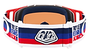 Front Line™ MX Goggles - Troy Lee Designs Pre-Mix Red White Black
