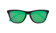 Frogskins™ Origins Collection - Matte Black / Prizm Jade