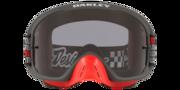 O-Frame® 2.0 PRO MX Goggles - Troy Lee Designs Monogram Gunmetal Red