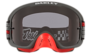 O-Frame® 2.0 PRO MX Goggles - Troy Lee Designs Monogram Gunmetal Red